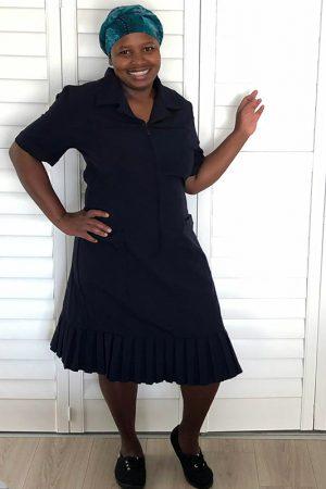 Della_Domestic Worker Uniforms_pleat dress – navy blue