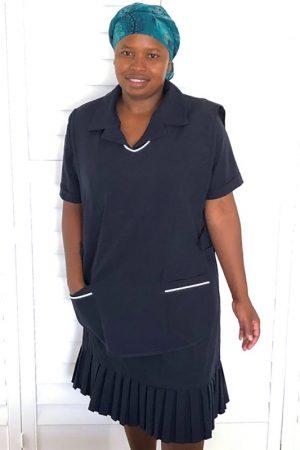 Della_Domestic Worker Uniforms_apron – navy blue